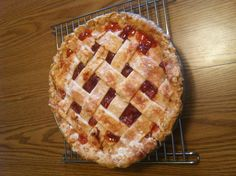 Homemade cherry pie with fresh cherries from our cherry tree