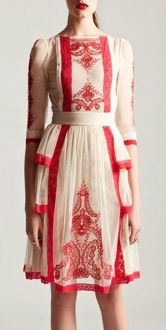 Folk inspired dress | Alice By Temperley S/S 2014