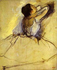 Edgar Degas >> Dancer (Danseuse) | reminds me of @Rachael Haas and painting class :)