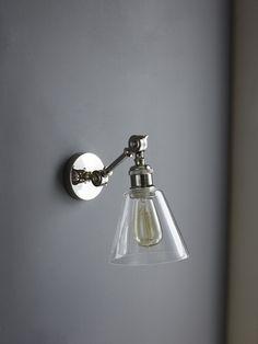 Keats wall light Home Interior Design, Interior Decorating, Monochrome Bedroom, Lounge Lighting, Black And White Interior, Extension Ideas, Hallways, Glass Shades, Lamp Light