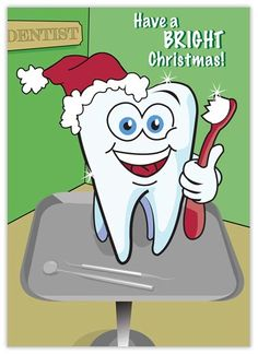 A Bright Christmas Dental Card - Dental from Brookhollow