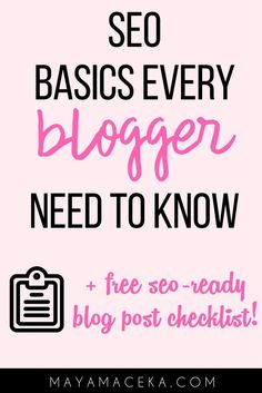Beginner SEO Tips for Bloggers   Want to drive organic search traffic to your blog without burning a hole in your pocket? This guide is for bloggers and entrepreneurs who want to boost traffic for free through search engine optimization. Plus get a free SEO-ready blog post checklist! Click through to see all of the beginner SEO steps!