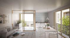 Mixed use development . Lan Architecture, Mixed Use Development, Lyon, Divider, Furniture, Home Decor, Homes, Decoration Home, Room Decor