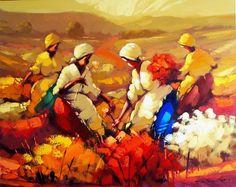 OLEOS DE PAISAJES CON ESPATULA Erico Santos, Pintor Brasilero