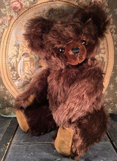 "20"" LARGE ANTIQUE 1940s KNICKERBOCKER TEDDY BEAR, BEST POST-WAR DESIGN, GORGEOUS   eBay"