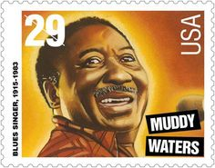 Legendary singer and slide guitarist Muddy Water was born on April From the cotton fields of Mississippi to juke joints and blues clubs worldwide, Muddy Waters had an indelible impact on music history. Commemorative Stamps, Postage Stamp Art, Muddy Waters, Blues Artists, Black History Facts, Chicago, African American History, Stamp Collecting, Rock And Roll