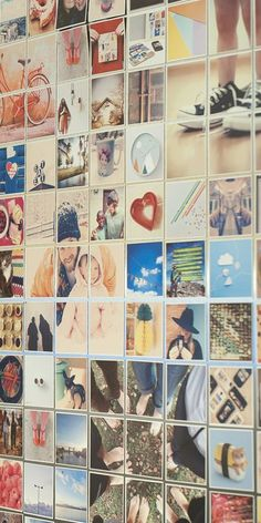 This is my dream! To have a whole wall (or fridge) full of these cute Instagram magnets! | via Sticky9