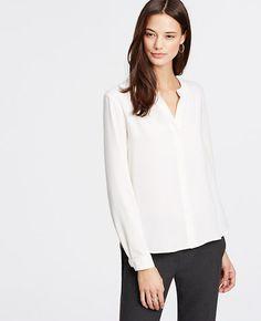 Image of Split Neck Blouse color Winter White