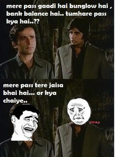 Bollywood Funny Dialogues: Amitabh, Shashi Kapoor from the Movie Deewar