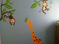 Decoracion de selva con vinilos Wall Art en habitacion para nene (foto1)