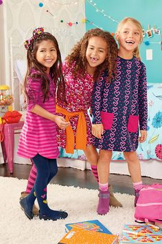 A pop of colorful pattern make back to school outfits a stylish statement. Lands' End is your back to school smart stop.