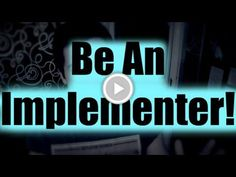 Be An Implementer (Motivational talk: Put Your Knowledge To Use!)