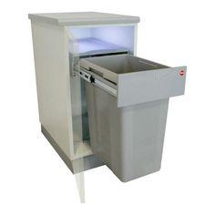 Poubelle coulissante 1 bac - 40 litres, idéale pour la cuisine Dimensions : largeur : 320 mm - Longueur : 465 mm - Hauteur : 542 mm Ouverture manuelle - sortie totale Modèl