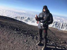 Joakim Stafsén On The Top climbing Mt Kilimanjaro 5.895 meter Uhuru Peak.