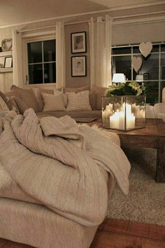 Living Room: love all of the neutral colors...so light and simplistic. -Alexandra