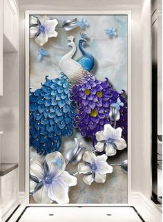 3D Wallpaper Peacock 444 Wall Murals Wallpaper Mural Wall Mural Wall Murals Removable Wallpaper
