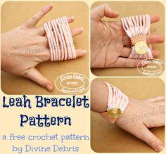 Leah Bracelet pattern- a free crochet pattern by Divine Debris