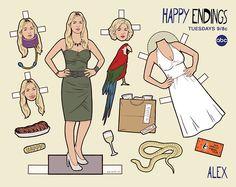 Happy Endings, Paper Dolls - Alex Dolls Film, Vintage Paper Dolls, Crafts For Teens, Teen Crafts, Retro Toys, Printable Paper, Happy Endings, Free Paper, Ariel