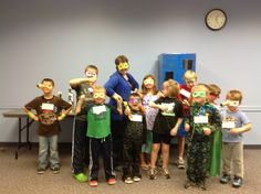 The Show Me Librarian: We're All Heroes: A Superhero Party Program: great ideas for games, including a nice variant on the Kryptonite field!