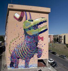 "aryz   Made by streetartist ""Aryz"" - #streetart #aryz - Click for more streetart"