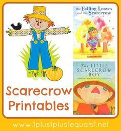 Free Scarecrow Printables and 2 good scarecrow book ideas