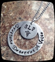 Speech Therapist Gift, Speech Therapy Staff, Rehab Office Professional Jewelry Necklace, Language Therapy Gift on Etsy, $22.00