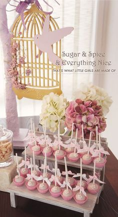 Sugar Spice Baby Shower #sugar #sweet #baby #babyshower #pastels #pink #pretty #cakepops #sweets #nice #girl #babygirl @Kstyle