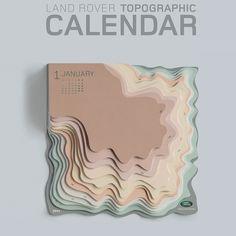 Der topografische Kalender von Landrover
