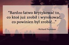 Bardzo łatwo krytykować to... #Feynman-Richard, #Krytyka