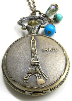 Clair Ashley Jewelry, Paris Watch Necklace...LOVE!!