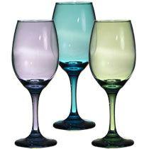 Bulk Long-Stem Colorful Wine Glasses, 12.75 oz. at DollarTree.com