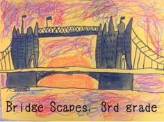 Mrs. Knight's Smartest Artists: Bridge Scapes, 3rd grade