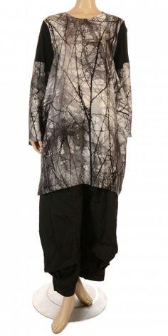 Xenia Design Exquisite Oriental Design Silk Tunic