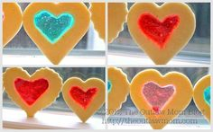 Valentine's Day Stained Glass Heart Cookies {From The Outlaw Mom}