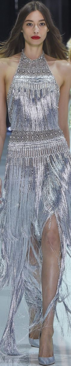 Fashion Week Couture Atelier Versace Ideas For 2019 Fashion 2018, High Fashion, Fashion Show, Fashion Design, Armani Prive, Christian Dior, Ralph & Russo, Fringe Fashion, Glamour