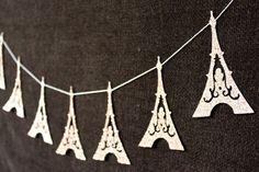 This item is unavailable - Eiffel Tower Garland – Paris Decoration – Eiffel Tower Bunting – Wedding Decoration – Glitt - Paris Decor, Paris Theme, Groomsmen Gifts Unique, Groomsman Gifts, Paris Bridal Shower, Bridal Showers, Thema Paris, Paris Birthday, 21st Birthday