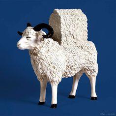 "...and here the final version; from the series of ""carry animals"" (HausTiere) collection H.-U. Schweizer height 80 cm. #rolandfaesser #animalsculpture #architectureporn #moma #sheep #nullbock #modernart #contemporaryart https://faesser.com/"