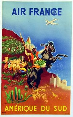 South America - Air France #vintage #travel #poster