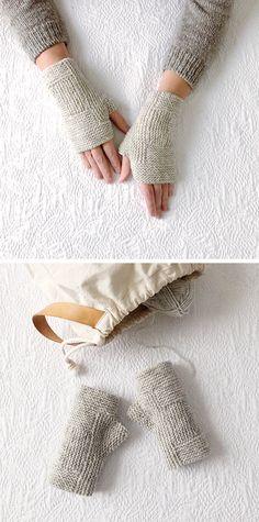 11fb48344a3f9 Glorious grey mitts (free knitting pattern) 初心者用編み図