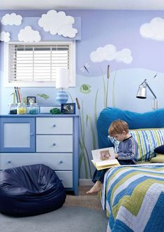 Froggies Everywhere!    A Boy's Friendly Frog Room    A kid's bedroom filled with friendly animals can be a dream come true. The creature-happy space is perfect for one boy or a pair of brothers.
