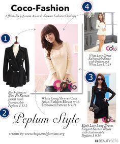 Peplum style, Coco Fashion, Affordable Korean fashion