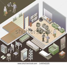 my new vector on shutterstock. get it now ! here #vector #digital art #illustration #stockvector # isometric #cool #popular #awesome #detail #work http://www.shutterstock.com/pic-149342120/stock-vector-isometric-of-interior-room-custom-interior-isometric-series.html?src=y5BOyNsJR7EvaqN7hhKM5A-1-12