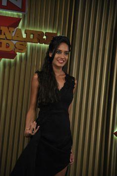 Lisa Haydon Shoots for New Show on AXN Thrillionaire Awards in Mumbai