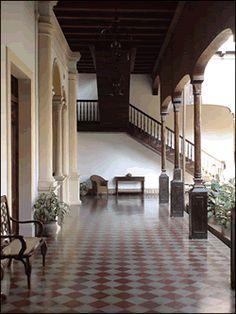 colonial courtyard in Granada, Nicaragua