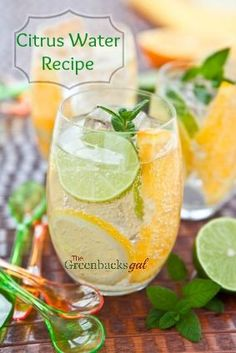 Healthy Water Recipe Idea: This is the best fruit combination for spa like water. Great to serve at parties!