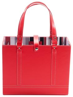 How can you resist having this ruby red tote in the office or in your dorm?! Jamie Raquel File Tote - Letter Size - Ruby Red