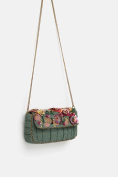 b14fe2f95e8 Image 6 of EMBROIDERED CROSSBODY BAG WITH FLAP from Zara
