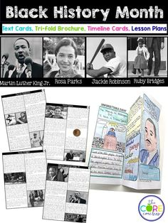 Printable text for four Civil Rights heroes. Perfect for Black History Month.