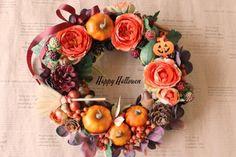 ハロウィンリース 魔女の秋|フラワー・リース|kayoflower|ハンドメイド通販・販売のCreema