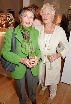 Elegant ladies: Judi Dench and Leslie Caron